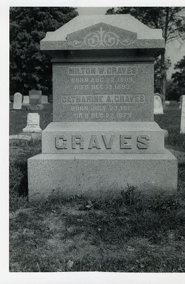 Tombstone of Milton and Catherine Graves