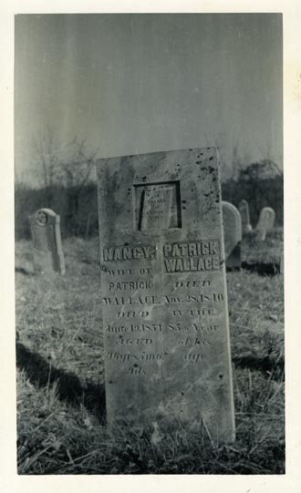 Tombstone of Patrick and Nancy Wallace