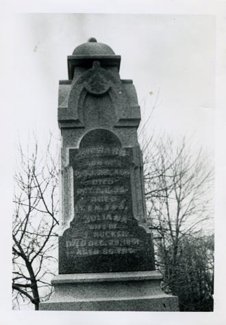 Tombstone of Richard and Julia Rucker