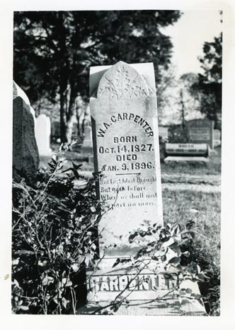 Tombstone of W. A. Carpenter