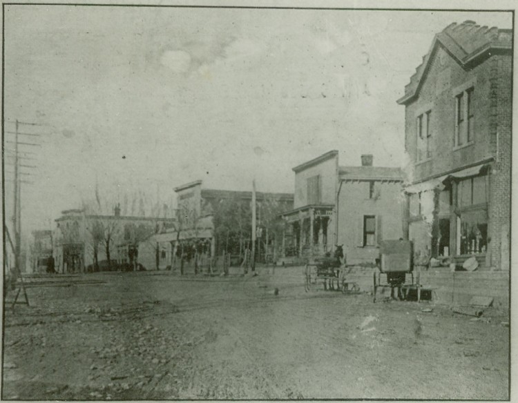 An image of early Walton from the Boone County Recorder newspaper