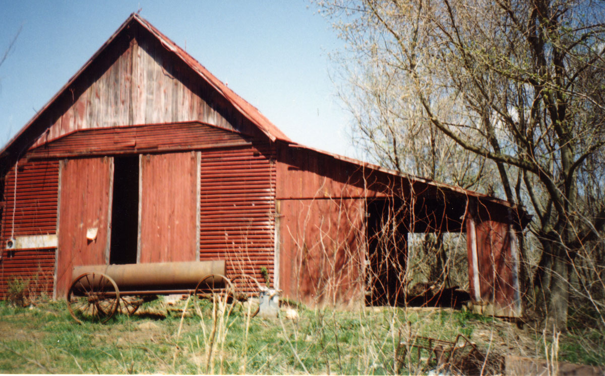 Route 8 barn on Conrad property