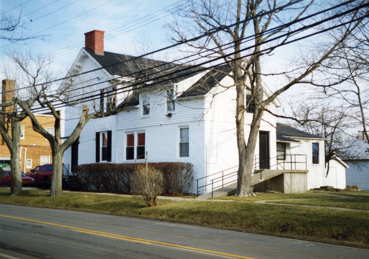 Johnson-Buckner house, west and rear elevation, demolished 2000