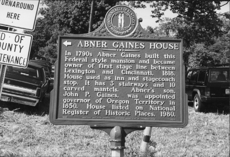 Abner Gaines Plaque