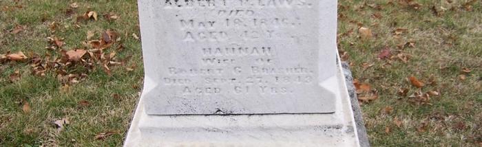 Hannah Seaman Brasher Headstone