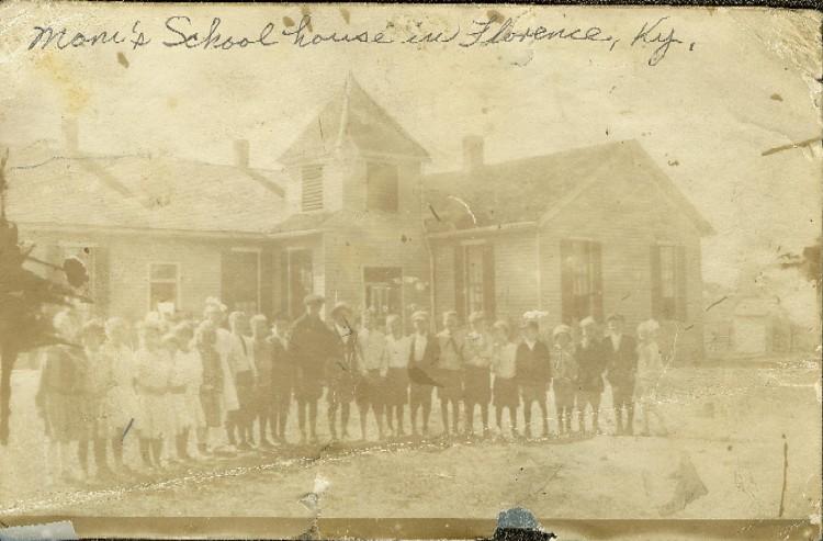 The Florence Public High School, around 1903