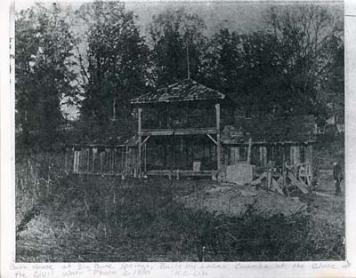 Bath house at Big Bone Springs, circa 1900