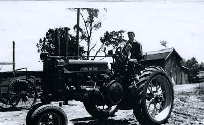 Bill Graves on farm