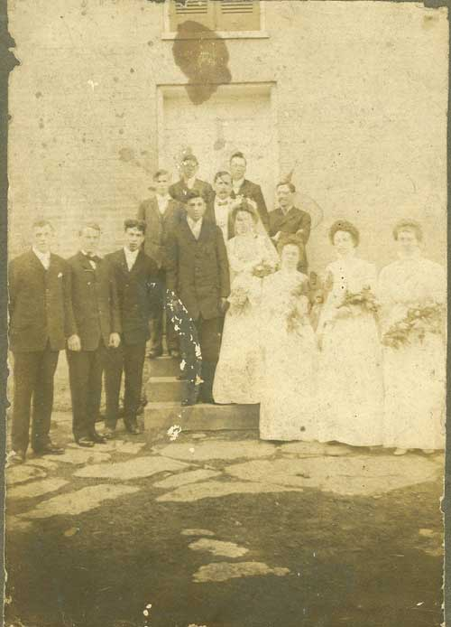 Wedding of Bob McNeeley and Jennie Pearl Allen
