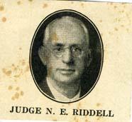 Judge N. E. Riddell