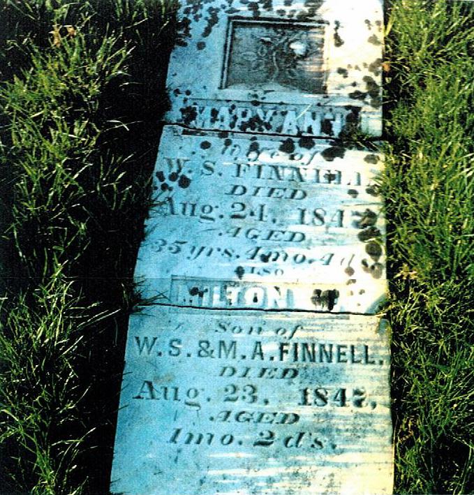 Mary Ann Burton Finnell Headstone