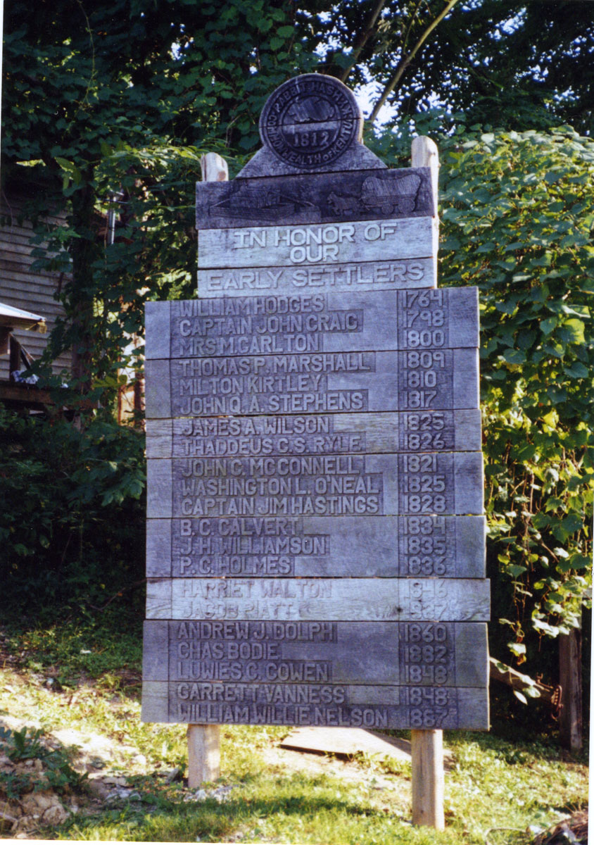 Early Settlers Memorial