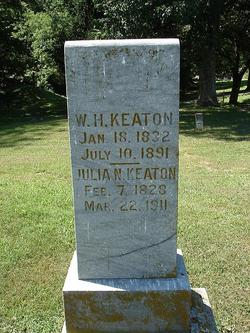 William and Julia Keaton Headstone
