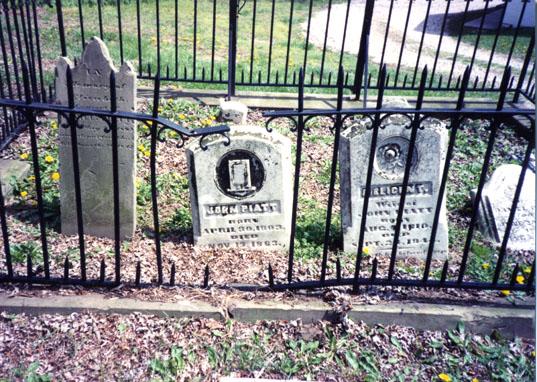 Tombstones, featuring John Piatt's stone