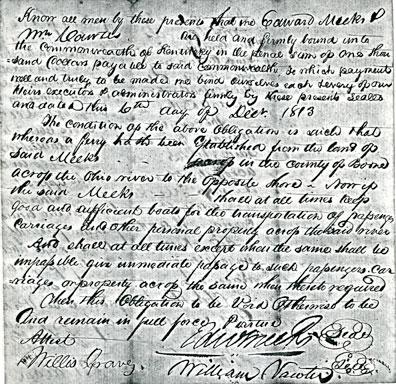 Meeks Ferry License