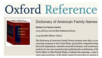 Button: Dictionary of American Family Names